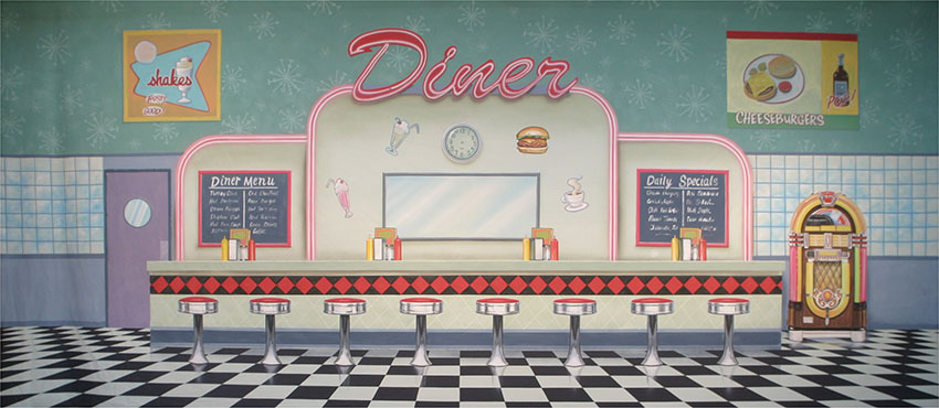 50 S Interior Diner Theater Backdrops Grosh