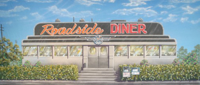 50 39 s exterior diner grosh backdrops and drapery for 50 s diner exterior