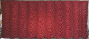 "Burgundy ""Super Vel"" Austrian Puff Backdrop"