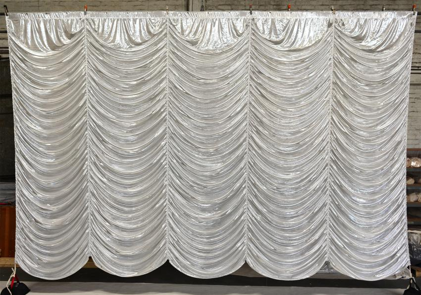 Silver Austrian Puff Drapes And Curtains Grosh
