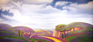 Stylized landscape Backdrop