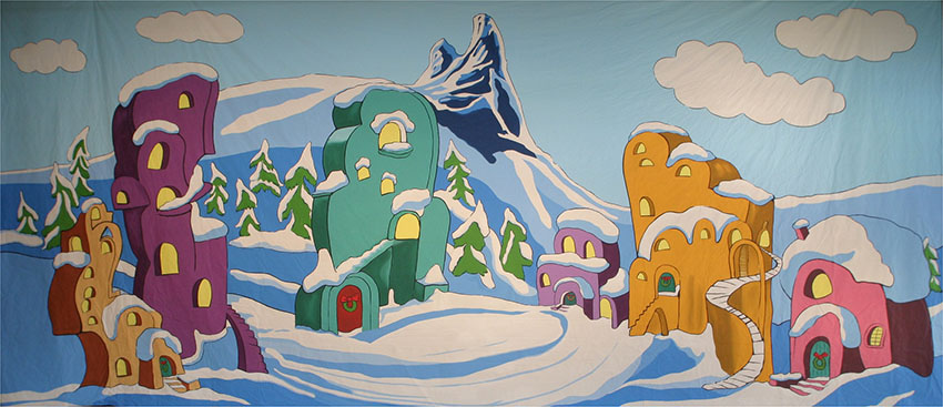 Whoville Houses whoville musical backdrops grosh