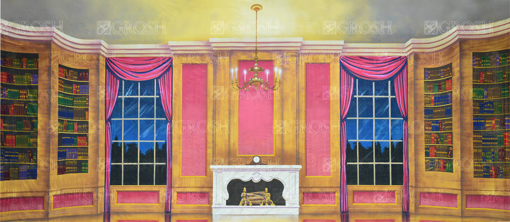 Parlor Interior backdrop for Annie, Call Me Madam, Mame, Music Man, My Fair Lady, Oliver, Scrooge, Sound of Music, Nutcracker plays and productions