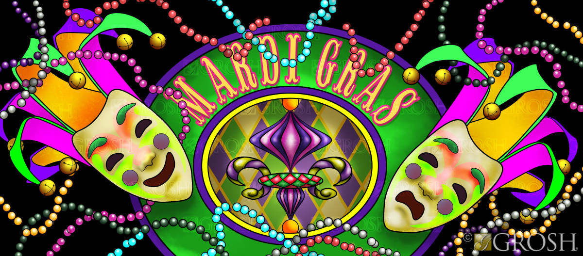 Mardi Gras Masks backdrop