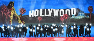 Hollywood Paparazzi backdrop