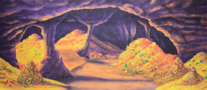 Cave of Wonders backdrop for Pirate plays. Also used for: Peter Pan, Hook, school musicals, Pirates of the Caribbean