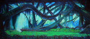 Dark Forest backdrop for Lion King, Peter Pan, Alice in Wonderland, Wizard of Oz, The Wiz and Beauty & the Beast plays
