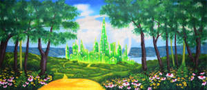 Oz Emerald City backdrop for Wizard of Oz, The Wiz and Wicked plays and productions