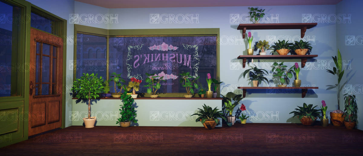 Grosh Mushnik's Flower Shop Backdrop