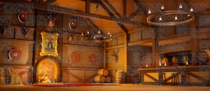 Grosh Digital Gaston's Tavern is used in productions of Beauty and the Beast