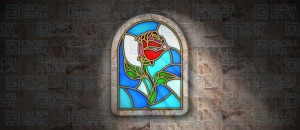 Grosh Digital Enchanted Rose Stained Glass is used in productions of Beauty and the Beast