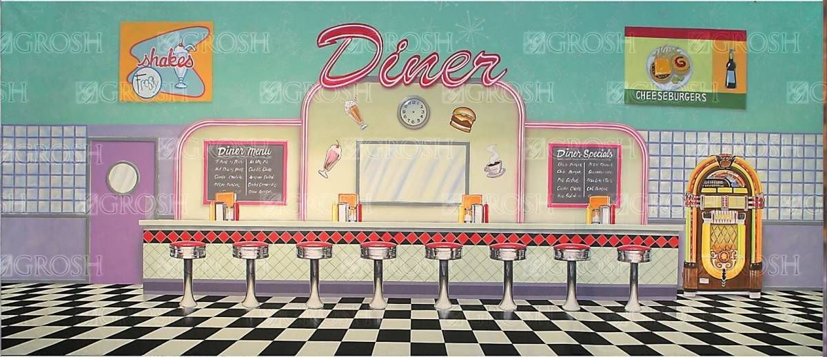 Grosh 50's Diner Backdrop