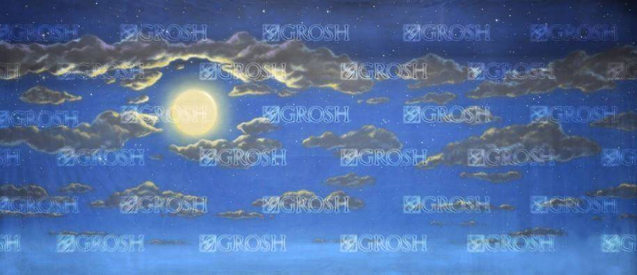 Addams Family Night Sky Backdrop