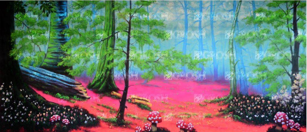 Alice in Wonderland Enchanted Forest Backdrop