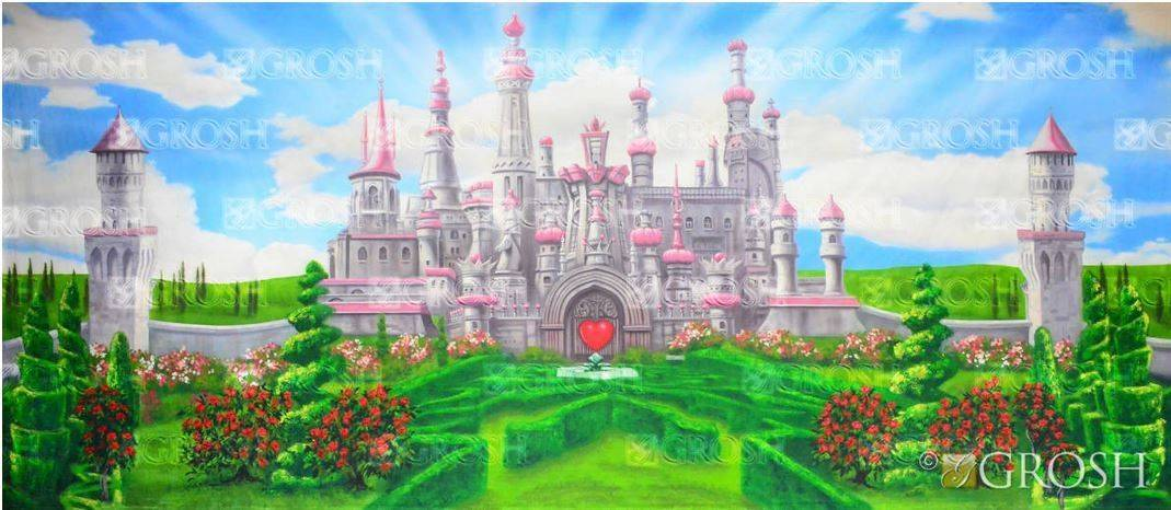 Alice in Wonderland Queen of Hearts Backdrop