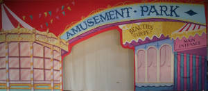 Amusement Park Arch Backdrop