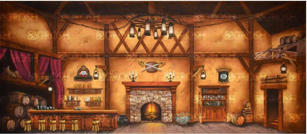 Beauty and the Beast Tavern Backdrop