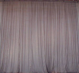 Black Chiffon Sparkle Drape Backdrop