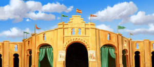 Bullfighting Arena Backdrop