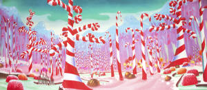 Candy Cane Forest Backdrop Grosh Backdrops