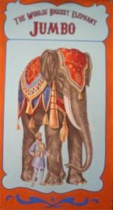Circus Elephant Banner Backdrop