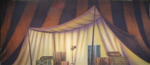 Circus Tent Dressing Room Backdrop
