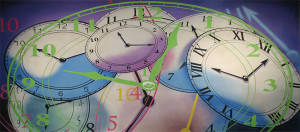 Colorful Clocks Montage 2 Backdrop