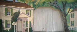 Colonial Style House Arch Backdrop