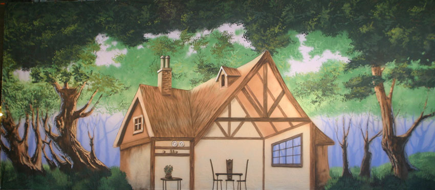 Cottage in the Woods Backdrop