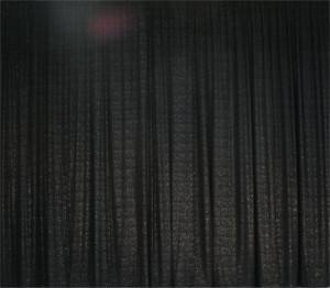 Black Velvet Sparkle Dot drape