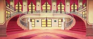 Regal Red Palace Interior Backdrop