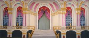 Palace Interior with Cut Opening Backdrop
