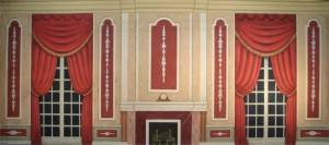 Red Victorian Parlor Backdrop