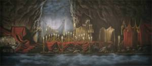 Underground Lair Beauty and the Beast stage backdrop for school plays