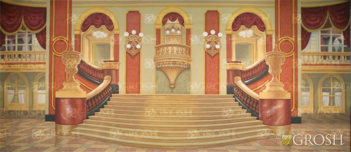 Beauty and the Beast Grand Ballroom Stage Backdrop