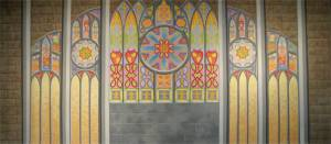 Church Interior backdrop for religious, Easter, Christian, Catholic and spiritual events and productions