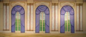 Elegant Palace Interior backdrop for Anything Goes, Funny Girl,