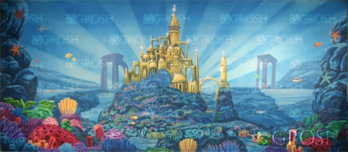Undersea Castle Disney Castle Backdrop Grosh Es7753