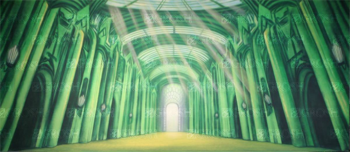 Emerald City Interior backdrop for Wizard of Oz, The Wiz and Wicked plays and productions