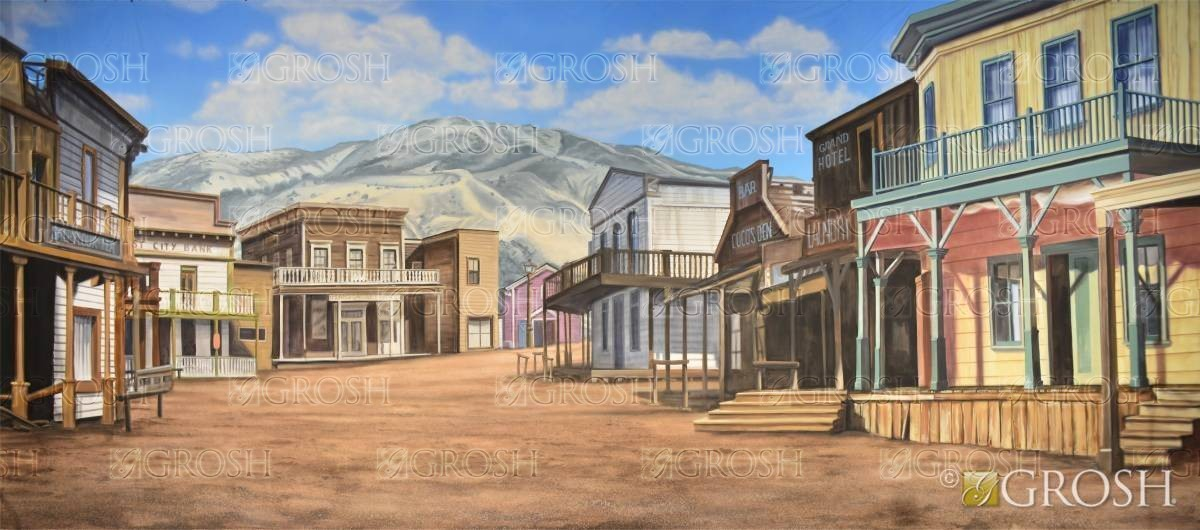 Crazy for You Western backdrop