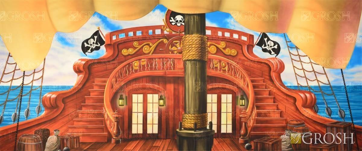 Captain Hook's Pirate Ship backdrop for Peter Pan