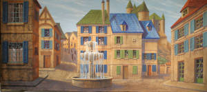 Grosh Backdrops European Village is used in productions of Beauty and the Beast