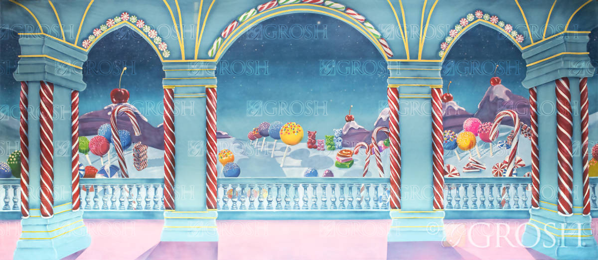 Land of the Sweets backdrop for Nutcracker and Charlie and the