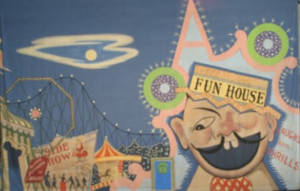 Fun House Carnival Backdrop