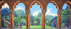 Garden with Arches Backdrop