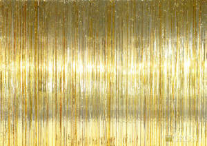 Gold Rain Curtain for school plays and productions