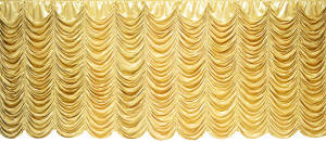 Gold Satin Austrian Puff Backdrop