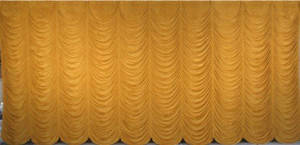 Gold Super Vel Austrian Puff Backdrop