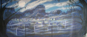 Graveyard with Gate Backdrop