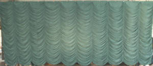 Green Super Vel Austrian Puff Backdrop